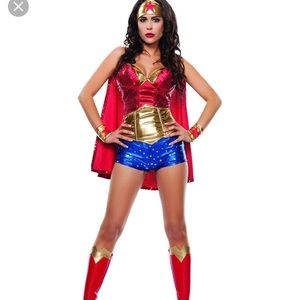 Wonder Woman Halloween Costume with Boots